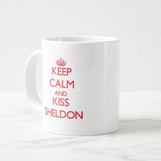 Keep Calm and Kiss Sheldon Extra Large Mugs