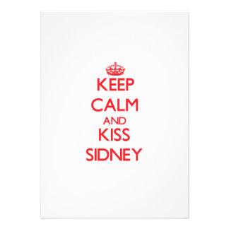 Keep Calm and Kiss Sidney Invitation