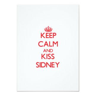 Keep Calm and Kiss Sidney 13 Cm X 18 Cm Invitation Card