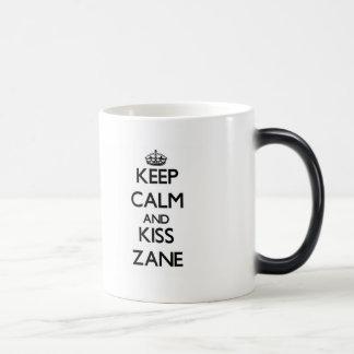 Keep Calm and Kiss Zane Coffee Mug