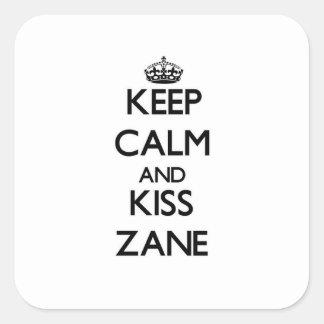 Keep Calm and Kiss Zane Sticker