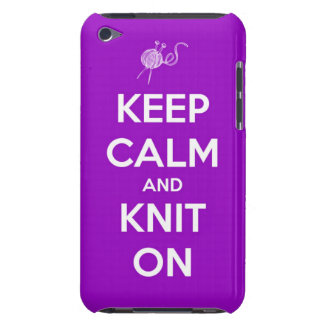 Keep Calm and Knit On Fuchsia iPod Touch Case