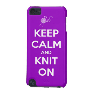 Keep Calm and Knit On Fuchsia iPod Touch (5th Generation) Case