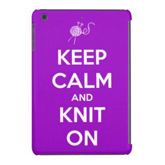 Keep Calm and Knit On Fuchsia iPad Mini Covers