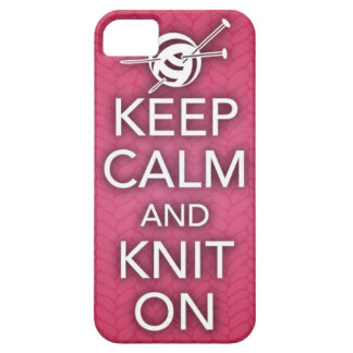 Keep Calm and Knit On iPhone 5 Case
