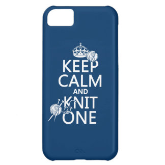 Keep Calm and Knit One - all colours iPhone 5C Case