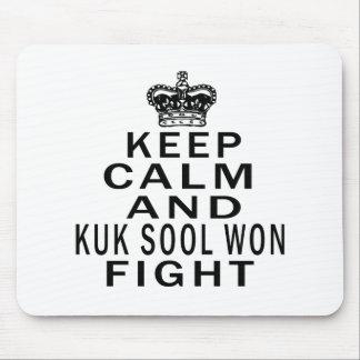 Keep Calm And Kuk Sool Won Fight Mousepad