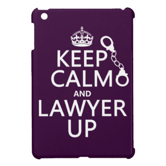 Keep Calm and Lawyer Up (any color) Case For The iPad Mini