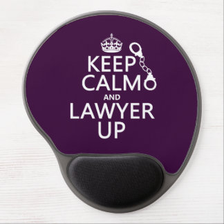 Keep Calm and Lawyer Up (any color) Gel Mouse Mat