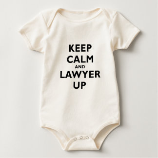 Keep Calm and Lawyer Up Baby Bodysuit