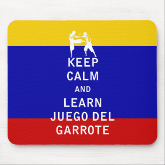 Keep Calm and Learn Juego del Garrote Mouse Pads