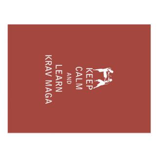 Keep Calm and Learn Krav Maga Postcard