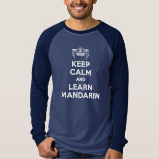 Keep Calm and Learn Mandarin Mens Long-Sleeve T-Shirt