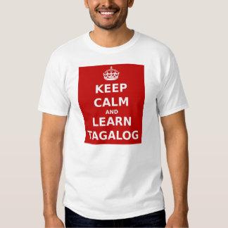 Keep Calm and Learn Tagalog Tshirts