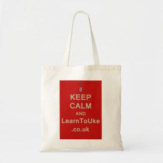 Keep Calm and LearnToUke Tote Bag