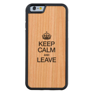 KEEP CALM AND LEAVE CARVED® CHERRY iPhone 6 BUMPER CASE