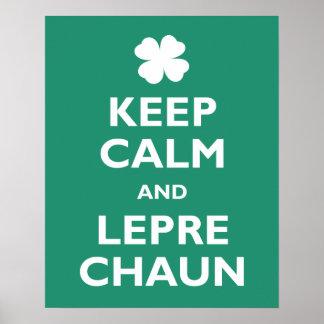 Keep Calm and Leprechaun Poster