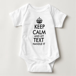 keep calm and let add your own text handle it cool baby bodysuit