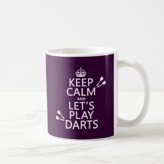 Keep Calm and Let's Play Darts Basic White Mug