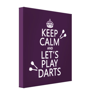 Keep Calm and Let's Play Darts Canvas Print
