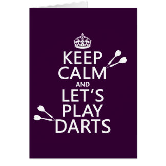 Keep Calm and Let's Play Darts Card