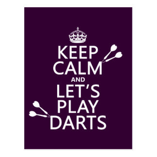 Keep Calm and Let's Play Darts Postcard