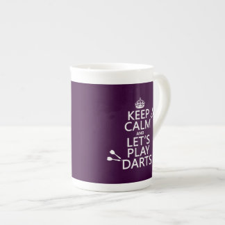 Keep Calm and Let's Play Darts Tea Cup