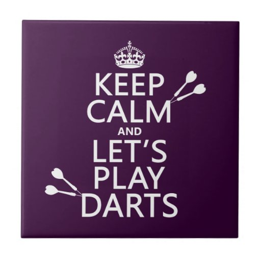 Keep Calm and Let's Play Darts Tiles