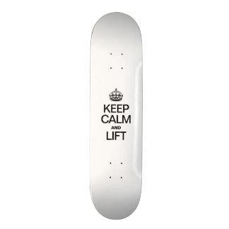 KEEP CALM AND LIFT 20 CM SKATEBOARD DECK