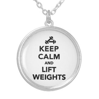 Keep calm and lift weights Bodybuilding Personalized Necklace