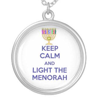 Keep Calm and Light the Menorah Custom Necklace