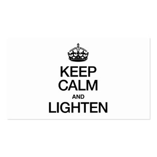 KEEP CALM AND LIGHTEN PACK OF STANDARD BUSINESS CARDS