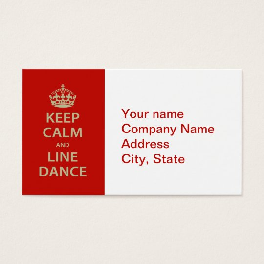 Keep Calm and Line Dance Business Card