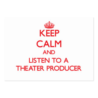 Keep Calm and Listen to a aater Producer Pack Of Chubby Business Cards