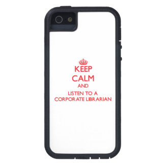 Keep Calm and Listen to a Corporate Librarian iPhone 5 Covers