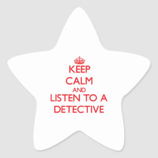 Keep Calm and Listen to a Detective Sticker
