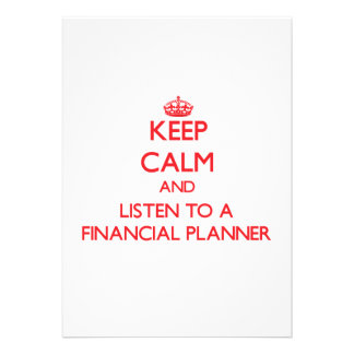 Keep Calm and Listen to a Financial Planner Invite