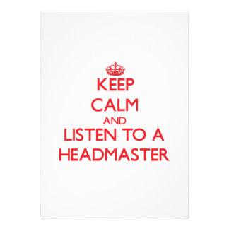 Keep Calm and Listen to a Headmaster Custom Invite