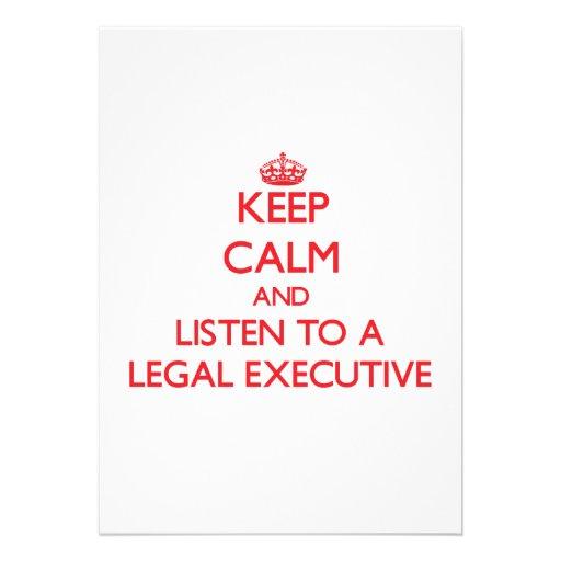 Keep Calm and Listen to a Legal Executive Announcement