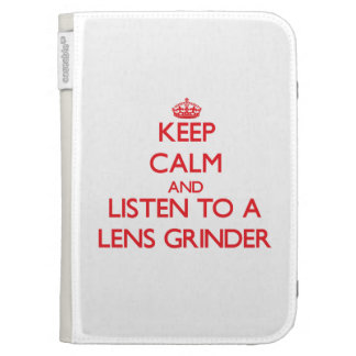 Keep Calm and Listen to a Lens Grinder Kindle Keyboard Covers