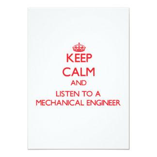 Keep Calm and Listen to a Mechanical Engineer Custom Announcements