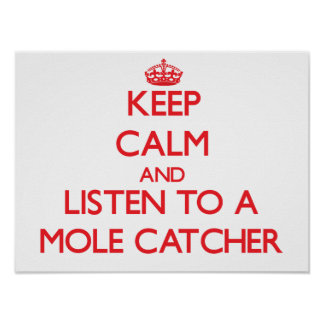 Keep Calm and Listen to a Mole Catcher Poster