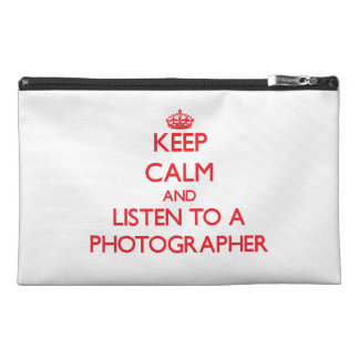 Keep Calm and Listen to a Photographer Travel Accessory Bags