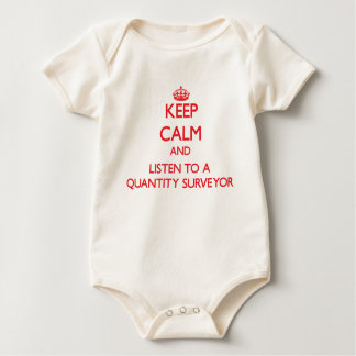 Keep Calm and Listen to a Quantity Surveyor Baby Bodysuit
