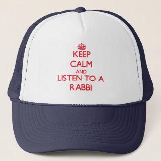 Keep Calm and Listen to a Rabbi Trucker Hat