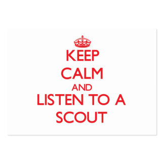 Keep Calm and Listen to a Scout Pack Of Chubby Business Cards