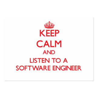 Keep Calm and Listen to a Software Engineer Business Cards