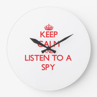 Keep Calm and Listen to a Spy Wall Clock