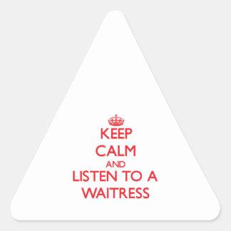 Keep Calm and Listen to a Waitress Sticker