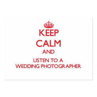 Keep Calm and Listen to a Wedding Photographer Business Card